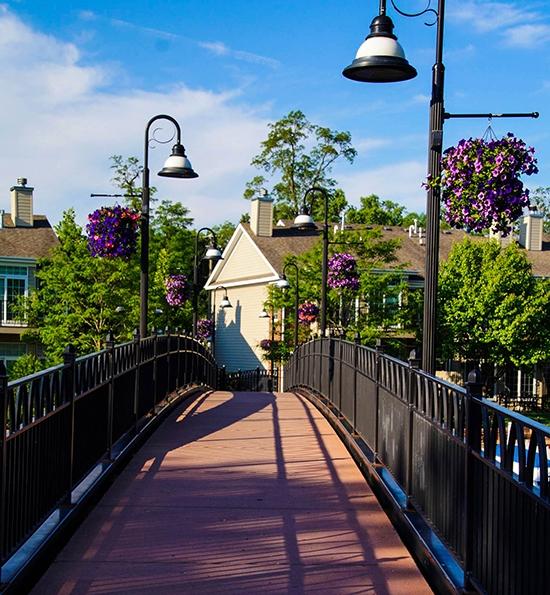 Cunat Bridge at McHenry Riverwalk